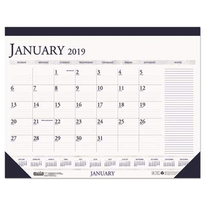 House of Doolittle Two-Color Monthly Desk Pad Calendar with Large Notes Section, 2010 Edition, 22 x 17 Inch, Blue (HOD164) 2010 Monthly Desk Pad