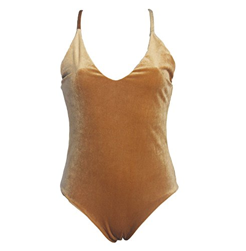Bikini de Terciopelo Dorado Traje de baño de Doble Cara para ...