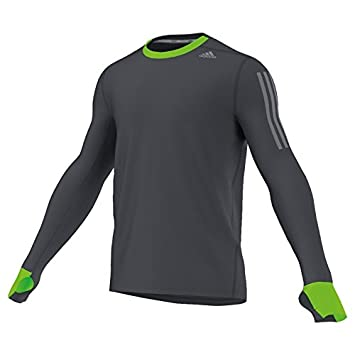 Adidas Camiseta. Manga Larga. La Color. Aislante térmica Deporte/Running/Walking. Black, Hombre, Color - Negro, tamaño S: Amazon.es: Deportes y aire libre