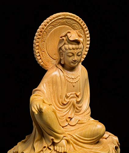 MD023高級上質観音菩薩 珍品 黄楊木 菩薩 仏像 お宅守り お祭り家飾り品 コレクション コレクション。
