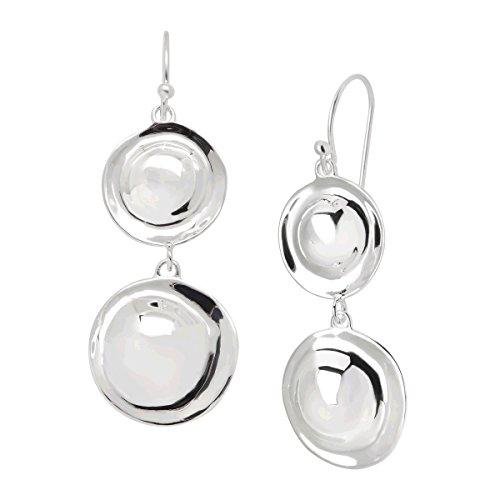 Silpada 'Retro Revival' Double Circle Drop Earrings in Sterling Silver