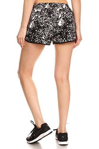 D-Diana-Dickson-Womens-Summer-Floral-Print-Drawstring-Elastic-Shorts