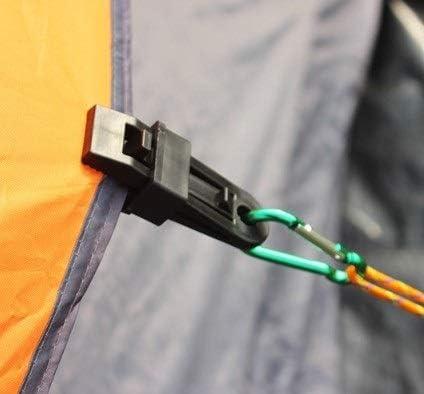 6 st/ücke Hohe Festigkeit Kunststoff Zelt Clamp Clips Schwere Sperren Plane Clips F/ür Outdoor Camping snap kleiderb/ügel MLMLH Plane Clip