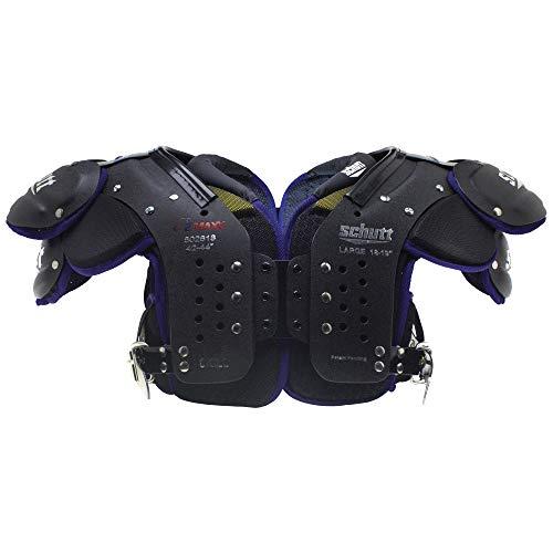 Schutt Sports Varsity O2 Maxx Skill Shoulder Pad, Black/Purple, Medium