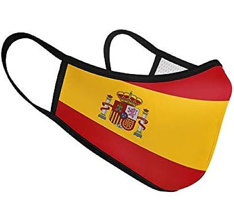 Mascarilla de Tela Homologada Reutilizable Bandera de España Completa: Amazon.es: Ropa y accesorios