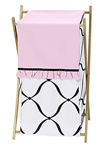 Baby/Kids Clothes Laundry Hamper for Sweet Jojo Designs for Pink, Black and White Princess Bedding - Juvenile Bedding