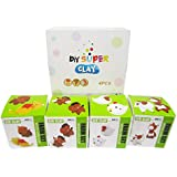 Super Kawaii Farm Pets Familly Sets Create Your Special&FunnyCute Farm Story - 4 Box & 2 in 1 Box - Kid's Artist Toy,Fun Arts And Craft- MagiColour Ultra Light Modeling Clay,3D DIY Air Clay Sets