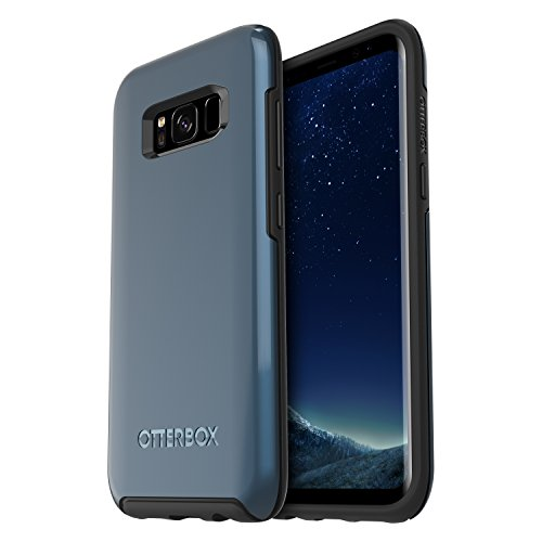 OtterBox SYMMETRY SERIES for Samsung Galaxy S8 - Frustration Free Packaging - CORAL BLUE (BLACK/CORAL BLUE METALLIC)