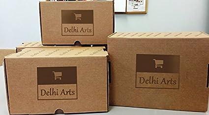 Delhi artes bonito hecho a mano cabeza de caballo bastón de madera ...