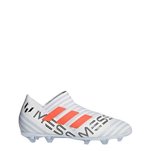 Picture of adidas Nemeziz 17 360 Agility FG Cleat Junior's Soccer 3.5 White-Solar Orange-Clear Grey