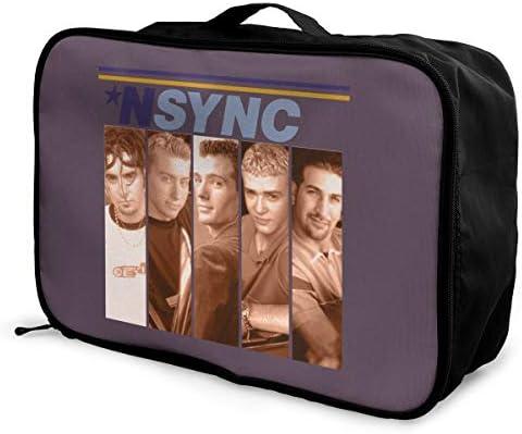 アレンジケース NSYNC インシンク 旅行用トロリーバッグ 旅行用サブバッグ 軽量 ポータブル荷物バッグ 衣類収納ケース キャリーオンバッグ 旅行圧縮バッグ キャリーケース 固定 出張パッキング 大容量 トラベルバッグ ボストンバッグ