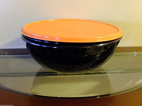 Tupperware Fix n Mix Serving Bowl 26 Cup Black/Orange New Halloween -