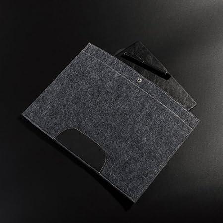 Jia HU A4/Feutre doux Document fichier Organiseur avec Snap Bouton de fermeture Business Office d/école Cadeau gris fonc/é