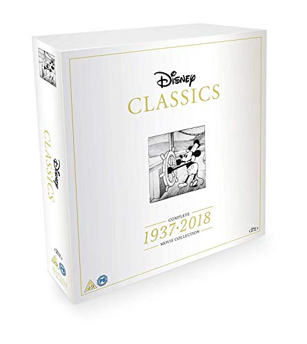 Disney Classics Complete 55 Disk Movie Box Set 1937-2018 [Blu-ray]