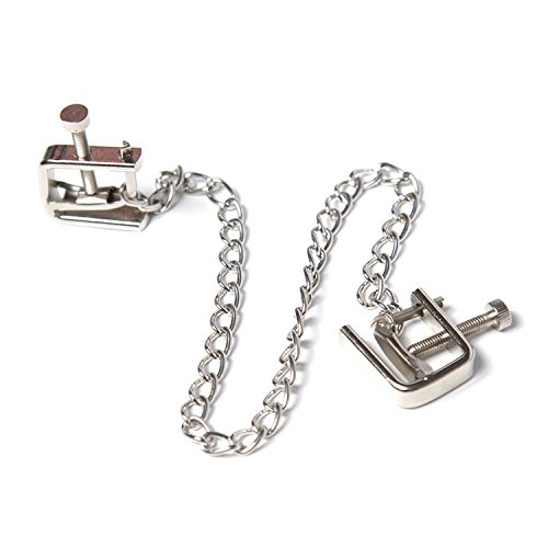 Adjustable Metal Nipple Clamps Sexy Bondage Toys,Nipple Clips/Labia Clitoris Clip with Chain Nipples Clamps BDSM Sex Products