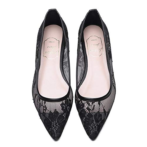 Quilted APL11048 Urethane Travel Womens BalaMasa Black Pumps Lace Shoes qOxzcw5W