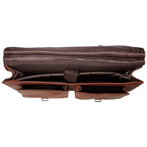 Kenneth Cole Reaction ''Mind Your Own Business'' Colombian Leather Double Compartment Dowel Rod Portfolio/Computer Case/ Fits Most 15.4'' Laptops, Brown, One Size by Kenneth Cole REACTION (Image #5)