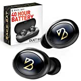 Duet 50 True Wireless Earbuds Bluetooth 5.0 [Featured in Rolling Stone, Forbes] 40 Hour Long Battery Life with Charging Case. Sweatproof Truly Wireless APTX Headphones for Running. TWS Microphone for