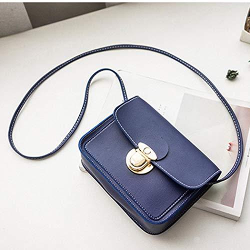 Bafaretk BLUE Small Square Solid Crossbody Fashion Coin Women Bag Shoulder Cover Bag Phone Bag rqrwp6