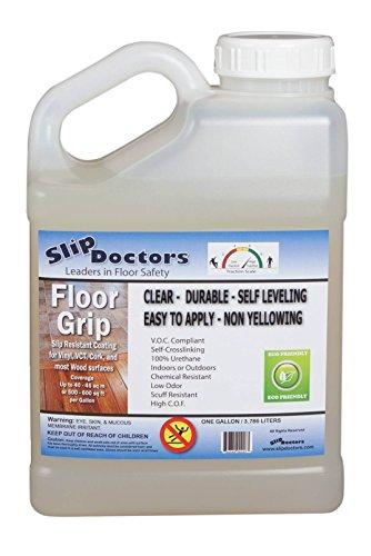 SlipDoctors Floor Grip Floor Treatment, 1 Gallon Bottle, Clear by SlipDoctors