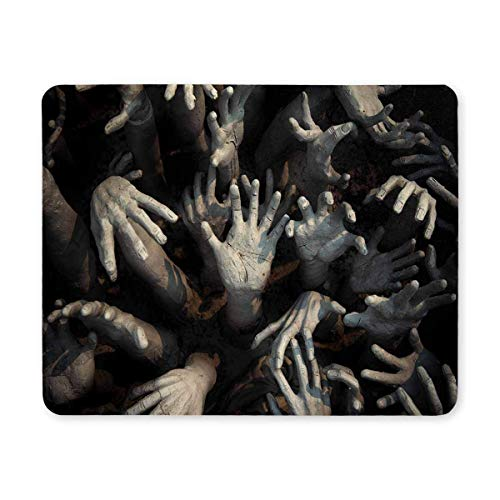 Deeoor Halloween Theme Ghost Zombie Bloody Hand Rectangle Non Slip Rubber Mouse Pad Gaming Mousepad Mat for Office Home Woman Man Employee Boss Work with -