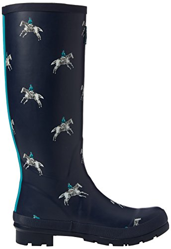 French Navy Women's Horse Wellington Joules Wellyprint Boots Rider Blue wBSgfXxq