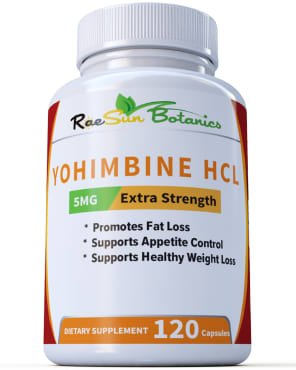 RaeSun Botanics Yohimbine HCL 5mg x 120ct Capsules Supplement Extra Strength Proven Fat Burner, Weight Loss, Appetite Control, Male Enhancement, and Energy by RaeSun Botanics (Image #4)