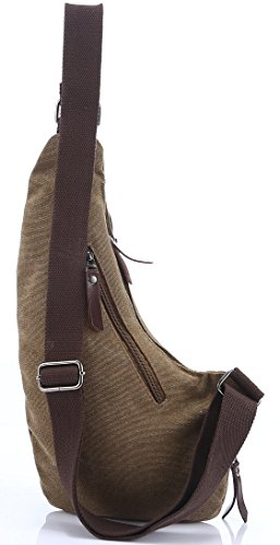 Casual Chest Sling Canvas Bag Backpack Zenness Shoulder Crossbody UpYpdwq