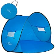 Campela Baby Beach Tent Pop up Sun Shelter - UV Protection Beach Shade for Baby, Infant and Family, Size 58'x43'
