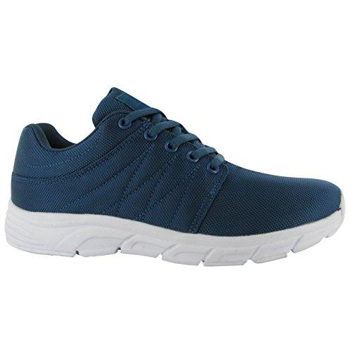 Stoff Reup Runner turnschuhe Damen blaugrün Sneakers Sport Schuhe Schuhe