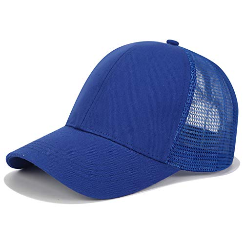 New Glitter Ponytail Baseball Cap Women Snapback Dad Hat Mesh Trucker Caps Adjustable Hip Hop Hats Plain Dark Blue - Hat Couture Trucker