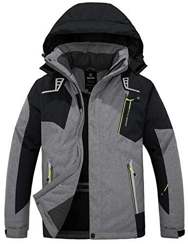 Wantdo Men's Mountain Ski Jacket Waterproof Rain Coat Windproof Winter Parka Outdoor Snowboarding Jackets