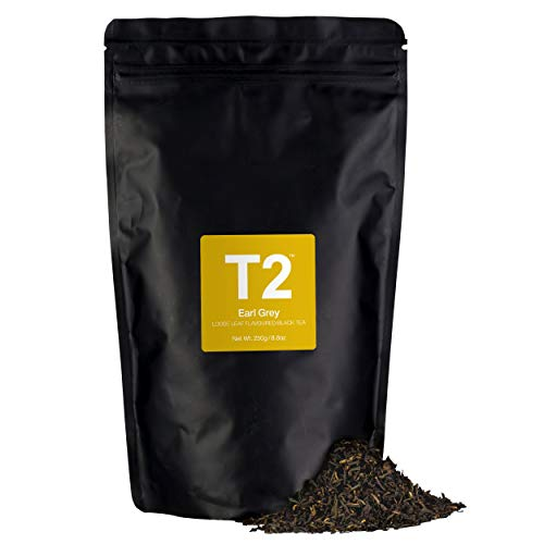 - T2 Tea Earl Grey Loose Leaf Black Tea in Resealable Foil Refill Bag, 250g (8.8 Ounce)