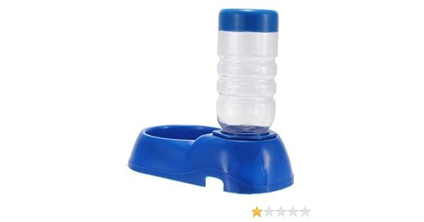 vonraech automático mascota perro gato tazón Botella de agua potable dispensador Comedero Fuente 500 ML Azul Oscuro: Amazon.es: Productos para mascotas