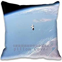 Throw Pillow Case Earthview Space Satelite Nature Blue Pillow Cover Home Decoration Cotton Polyester Square Decorative Cushion Cover Pillow Case 20x20inch