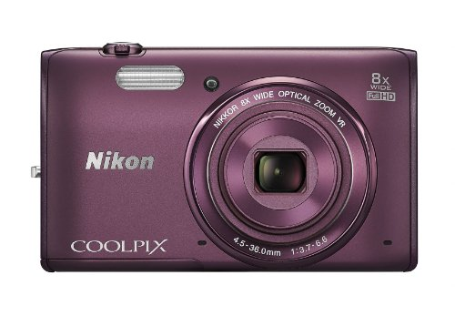 Nikon COOLPIX S5300 16 MP Wi-Fi CMOS Digital Camera with 8x Zoom NIKKOR Lens and 1080p HD Video (Plum) (Discontinued by Manufacturer)