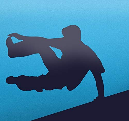 quantd Removable Vinyl Mural Decal Quotes Art Parkour Silhouette Sticker for Living Room Bedroom Gym]()