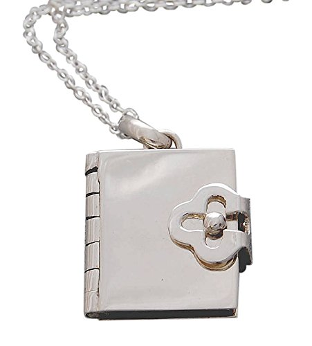 a6a3971bd1649b Handmade Book Silver Locket Necklace with Free Gift Packaging by Otis Jaxon:  Amazon.co.uk: Jewellery