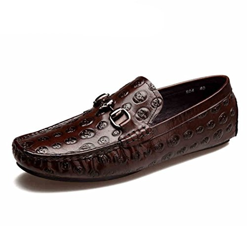 Mocassins De Marche Occasionnels Humgfeng Mens - Marron À La Mode Et Confortable