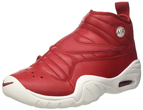 (Nike Air Shake Ndestrukt Mens Hi Top Basketball Trainers 880869 Sneakers Shoes (UK 8 US 9 EU 42.5, Gym red Summit White)