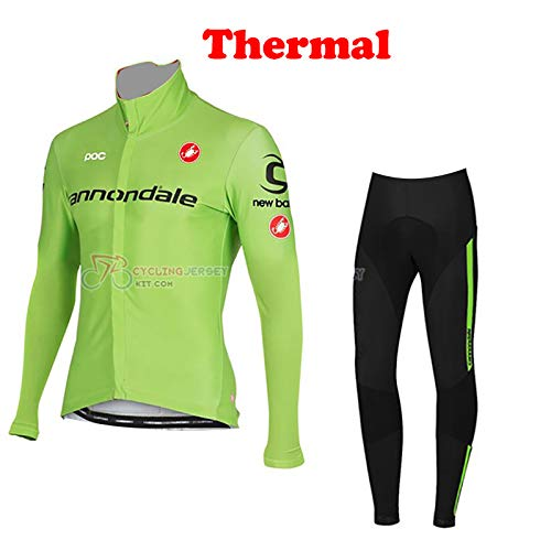 FH Men's Sportswear Winter Thermal Long Sleeves Cycling Jacket and Pants Bike Jersey MTB Cycling Clothing Set Suits Kit Size Medium
