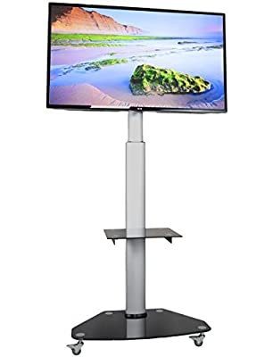 "VIVO TV Cart for LCD LED Plasma Flat Panels Stand with Wheels Mobile fits 37"" to 70"" (STAND-TV02D)"