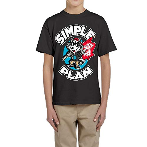 Teens Unisex Simple Plan Game Entertainment Boys&Girls Tee L