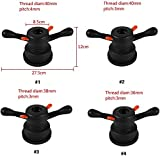 Yosoo 36/38/40mm 3/4mm Quick Release Hub Wing Nut