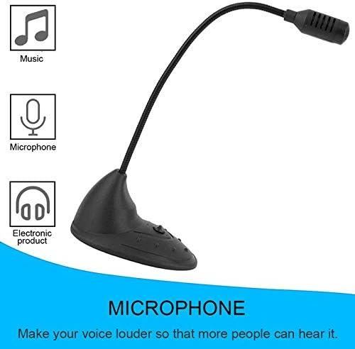 schwarz CamKpell Tischmikrofon CD-2000 Kleines praktisches Notebook Mikrofon Studio Speech Mic St/änder Halter f/ür PC