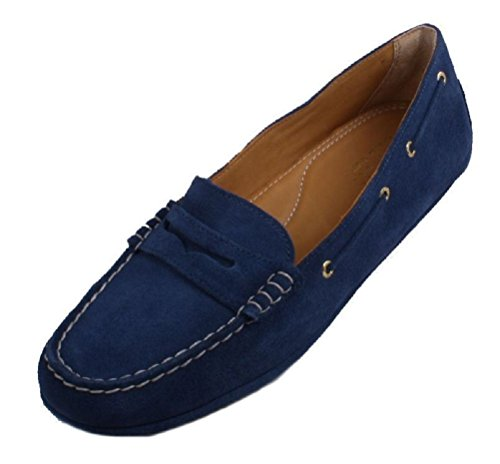 Sperry Top-sider Womens Or Penny Conduite Mocassins Bleu 5.5