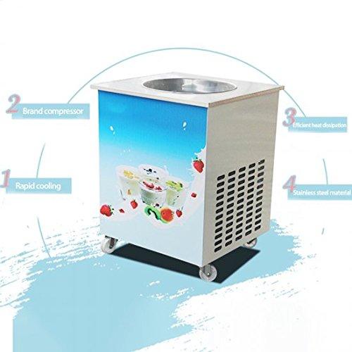 Genmine Fried Ice Cream Machine, Single Round Pan Fried Ice Cream Roll Maker Pan Diameter 14.2'' Commercial Fried Milk Yogurt Machine by Genmine (Image #6)