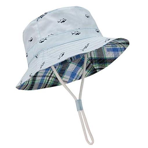 Toddler Infant Baby Boy Girls Bucket Sun Hat Summer Beach Bonnet Plaid Cap 0-3T
