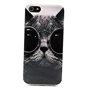 LIMME Cat Pattern TPU Soft Case for iPhone 5/5S