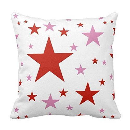 huase jeeze estándar cojín carcasa rosa y rojo estrellas ...